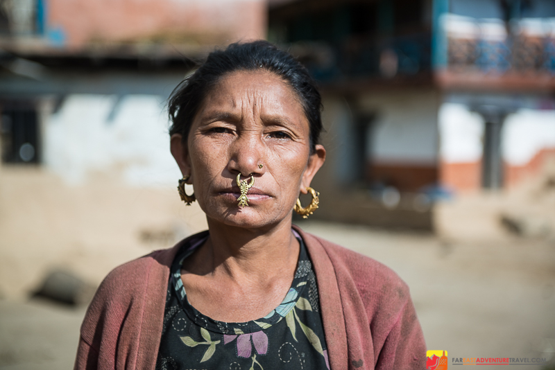 LImbu woman-Kanchenjunga region-Eastern Nepal