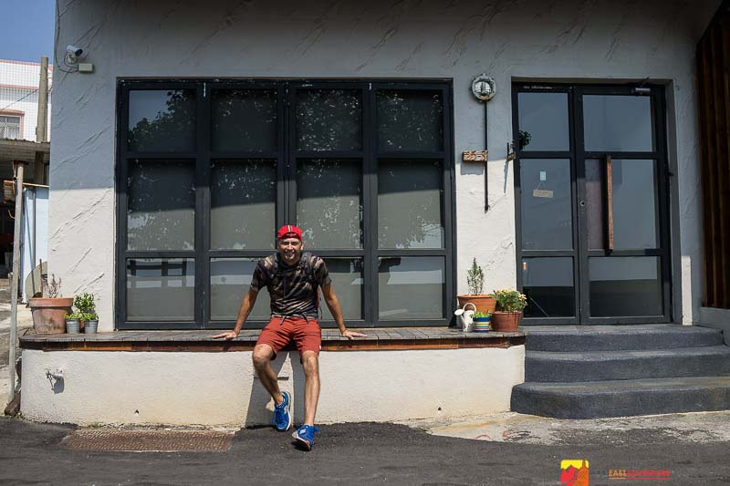 Taking a break during a cycling trip around the island of Taiwan in Kenting National Park- Southern Taiwan                       photo Eddie Tai