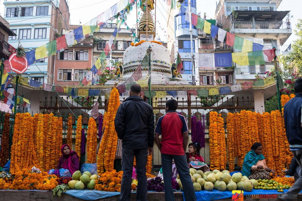 With less traffic in the early morning  a walk through one of the markets at the southern end of Thamel-Kathmandu is quite pleasurable