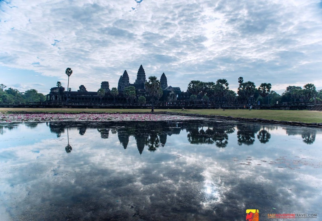 A post sunrise look at the world's largest religious monument-Angkor Wat, Cambodia