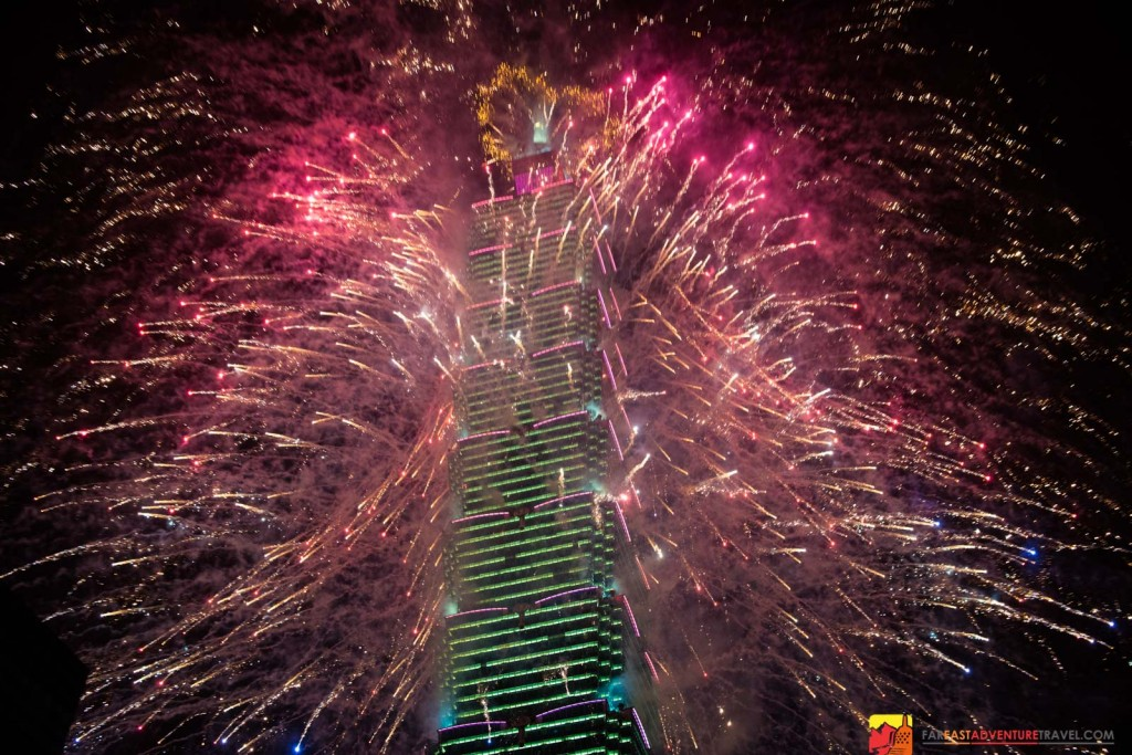 Taipei 101's 2015 New Years Eve Fireworks celebration-the total bill for the 218 second show-$NT30 million or $US1.03 million