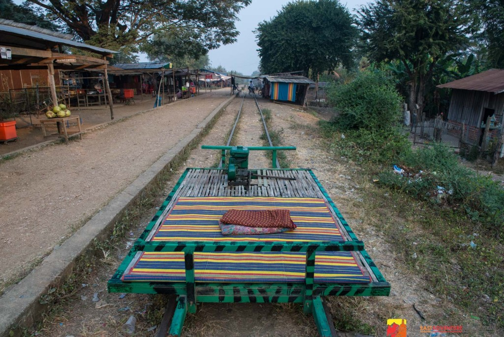 Cambodia's bamboo train-essential transportation for rural living doubles as a tourist ride