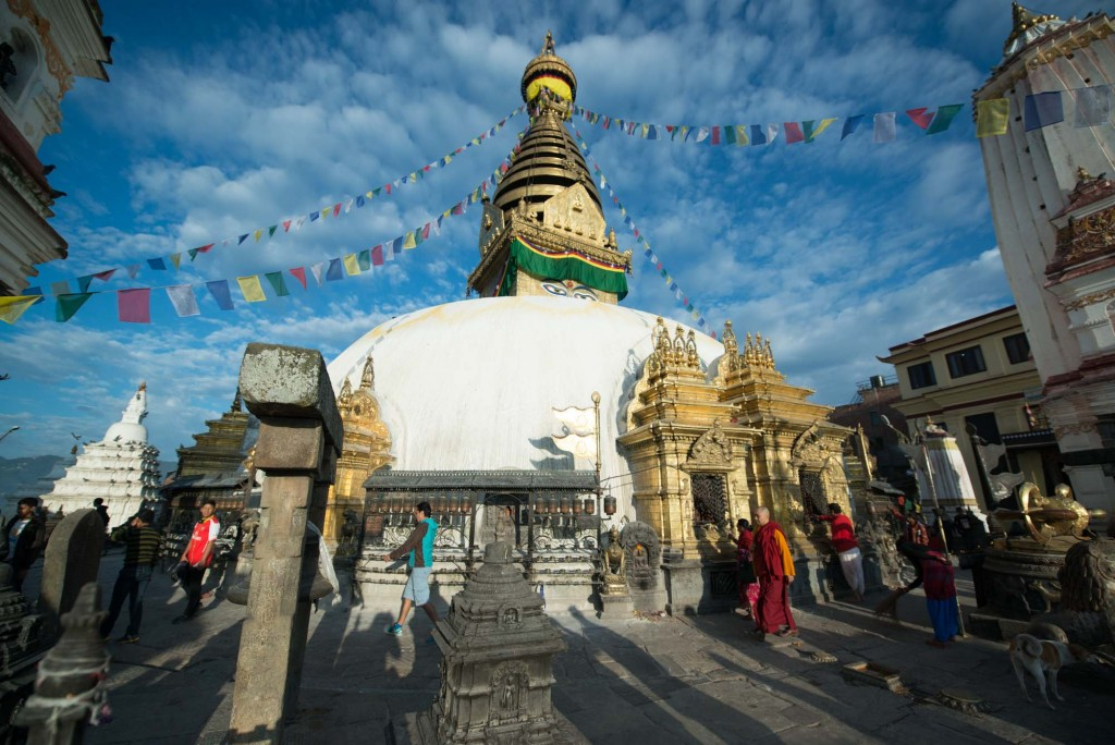Swayambunath-The Monkey Temple although it was damaged in the 2015 earthquake it remains one of the most important Buddhist pilgrimage sites in Nepal