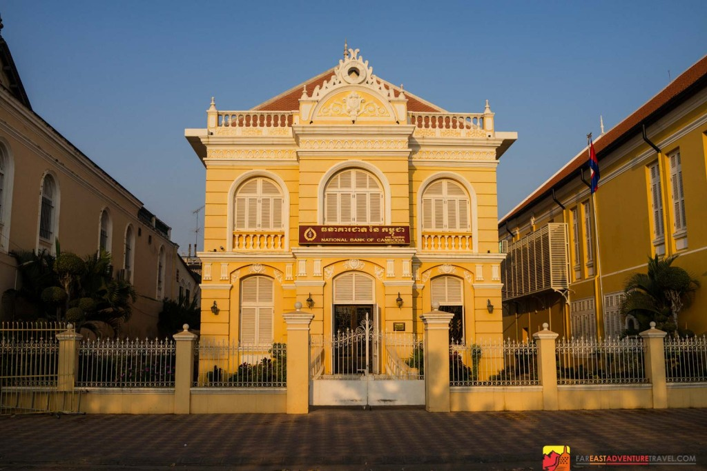 One of the most beautifully preserved buildings of Battambang, Cambodia's historic french quarter