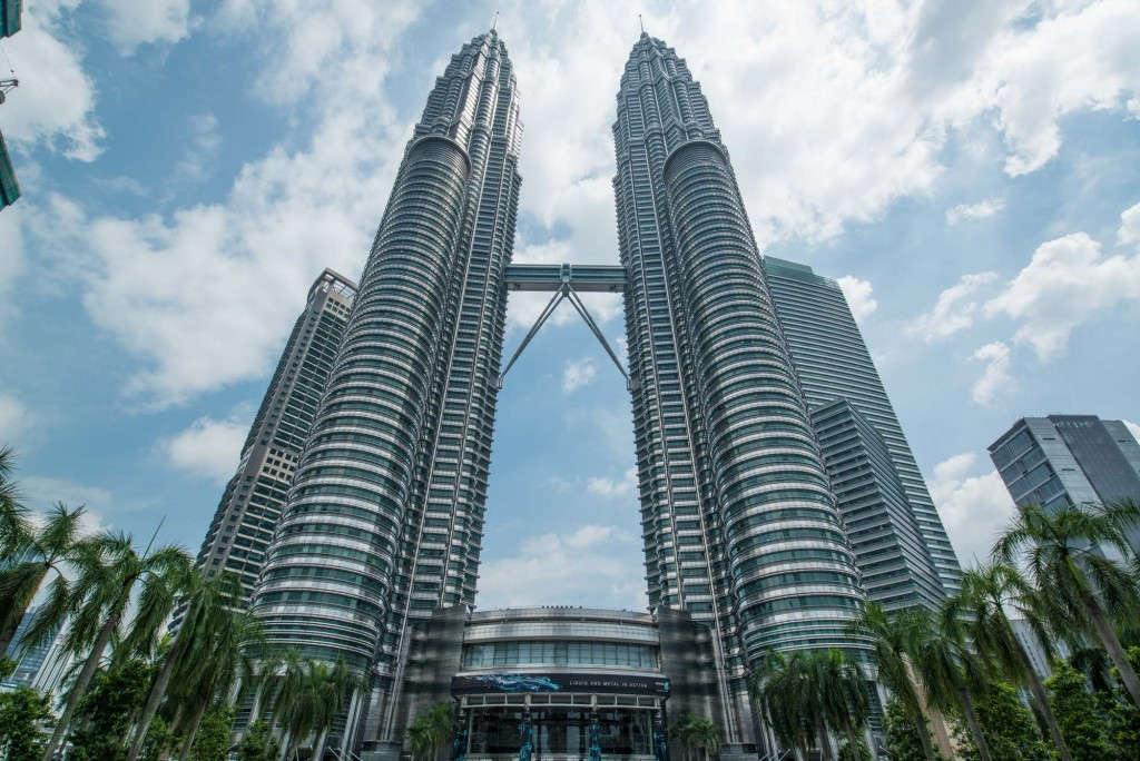 The Petronas Twin Towers located in Kuala Lumpur, Malaysia were the tallest buildings in the world from 1998-2004