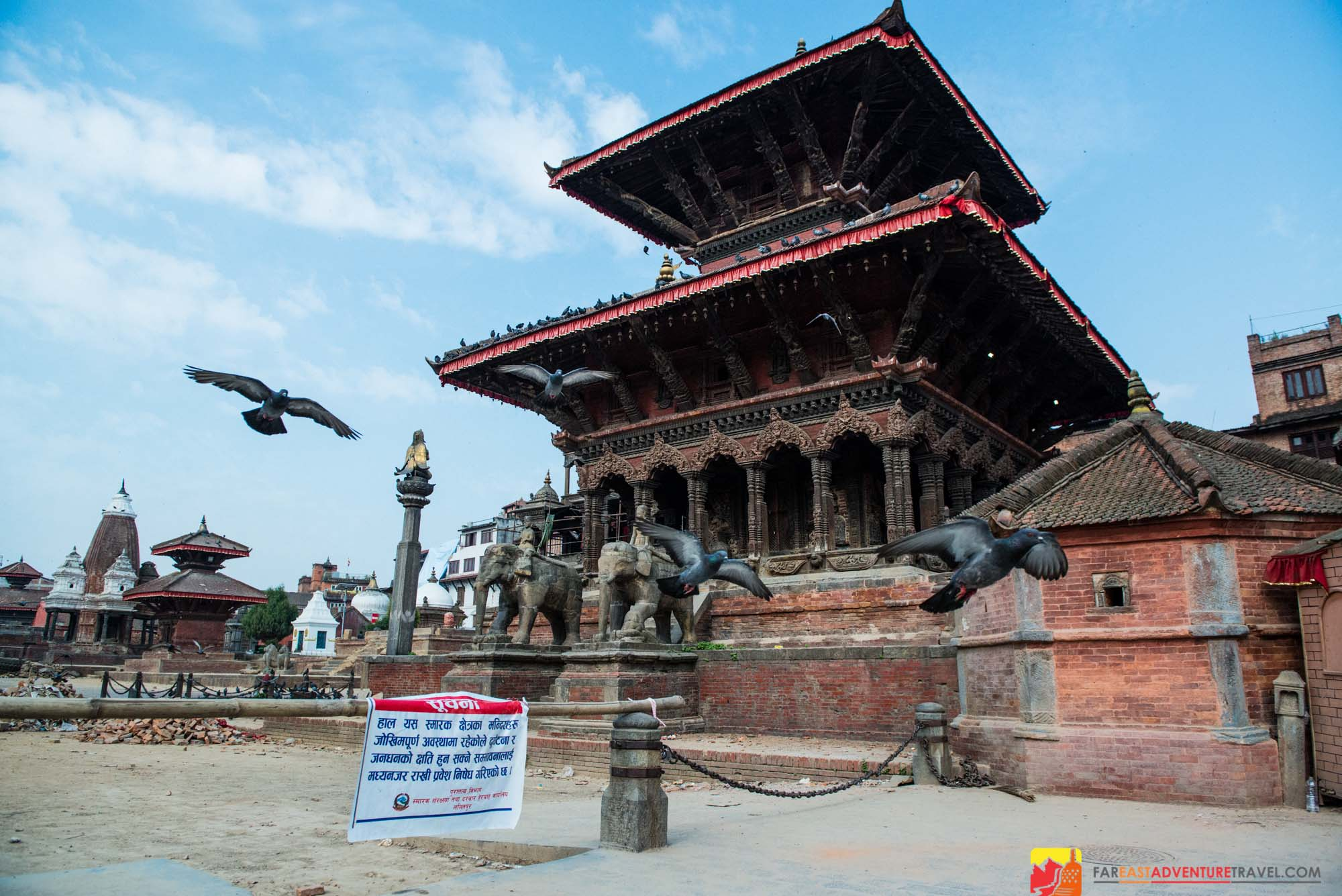 Patan's Durbar Square was closed for several weeks following the earthquakes of 2015. It is currently open to the public.