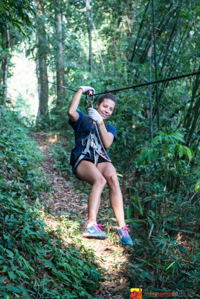 The Gibbon Experience of Laos is one of the best zip lining adventures in Southeast Asia with emphasis on nature and spotting the gibbon of the Bokeo Reserve
