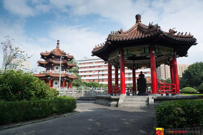 Pond surrounding pagodas - 2-28 Peace Memorial Park