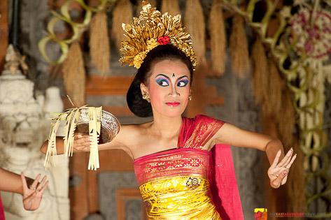 Balinese dancer performing at The Royal Palace