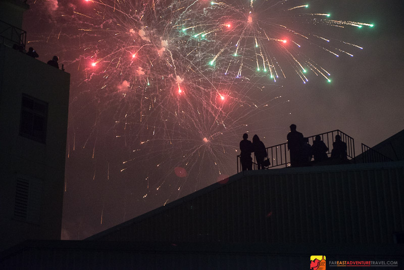 A Calmer Moment During The Beehive Fireworks Festival in Yanshui, Taiwan
