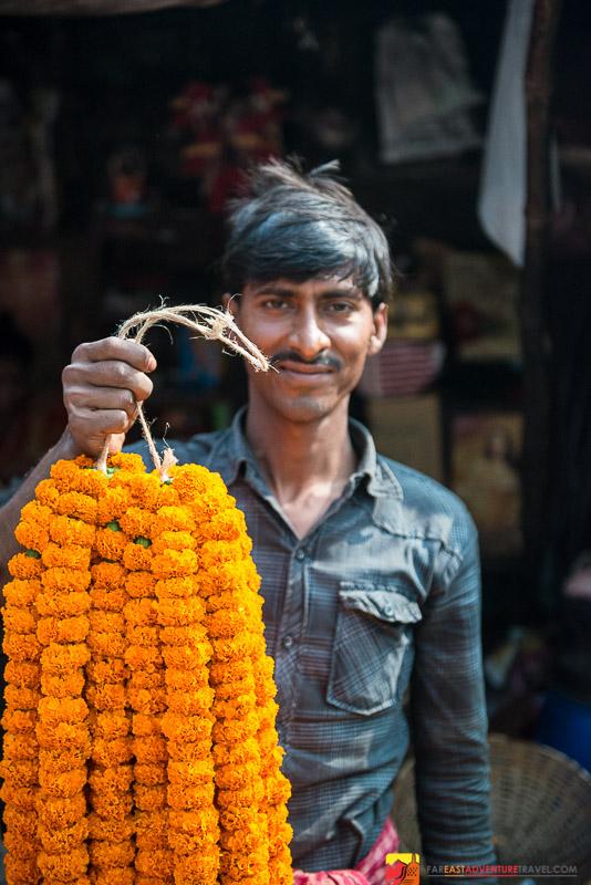 Mullik Ghat Flower Market Seller