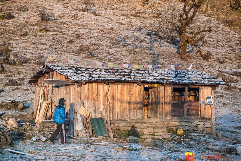 """""""The Shack""""(Teahouse) Kanchenjunga region-Nepal"""