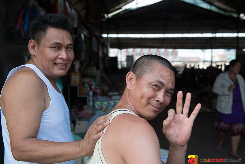 Friendly Vientiane Residents At The Site Of The Clean-up - Thong Khan Kham Market