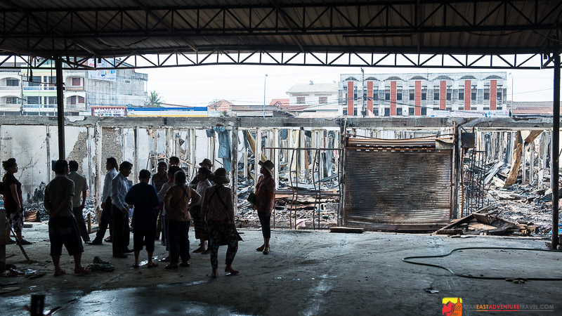 Viewing The Clean-up Of The Thong Khan Kham Market
