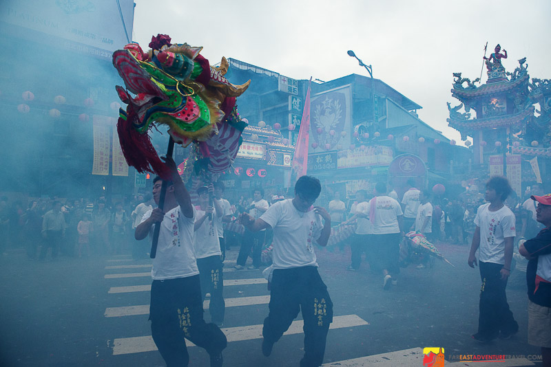 A dragon dance performed at Matsu's Birthday Parade - Taipei, Taiwan