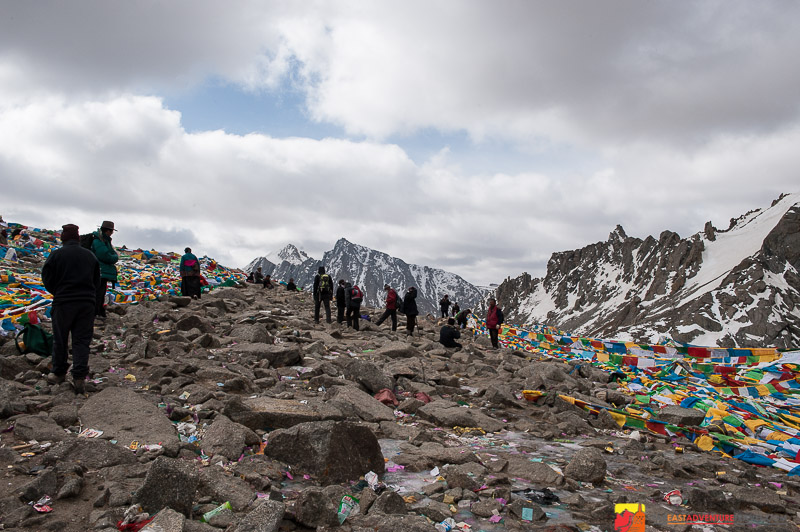 The Dromla La Pass at 5630 meters is the highest point of the kora of Mt. Kailash