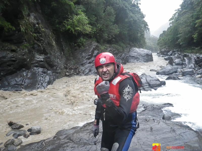 River tracing in Wulai, Taiwan