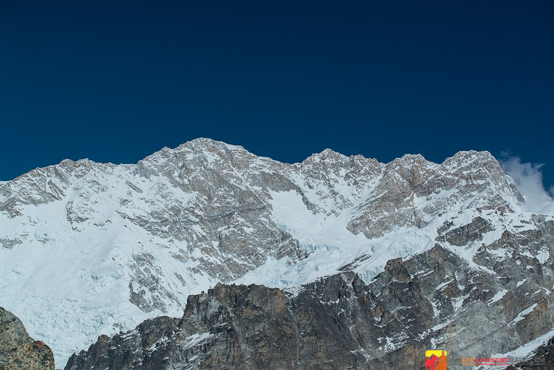 A view of Kanchenjunga from the south base camp at Oktung