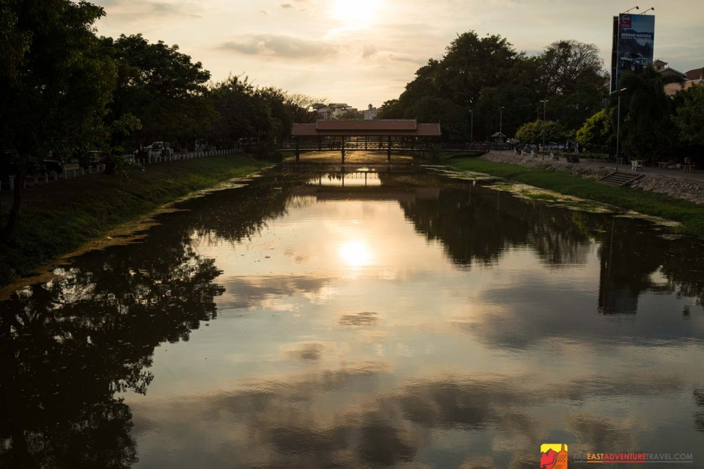 Overlooking The Siem Reap River-a great place to beat the tropical heat in Siem Reap, Cambodia