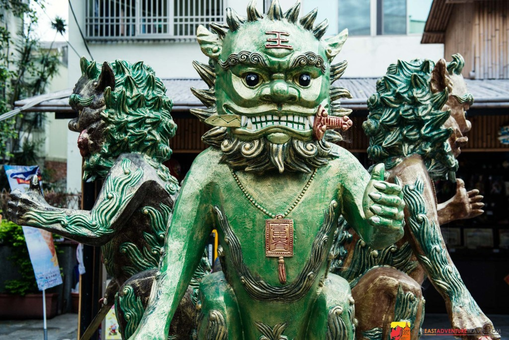 In the Anping section of Tainan, Taiwan you will find these sword lions-originally used to identify the residents of a home and ward off evil spirits