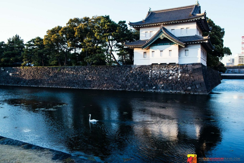 Tatsumi-yagura or keep(fortified gate)is located at  Kikyō-bori,  the east gate of The Imperial Palace -Tokyo, Japan