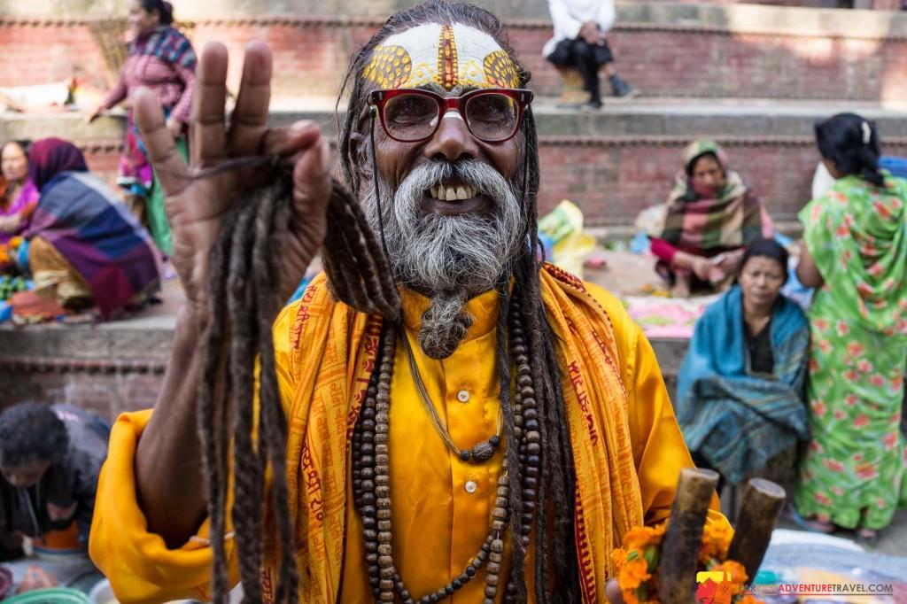 A Sadhu or holy man of Kathmandu, Nepal