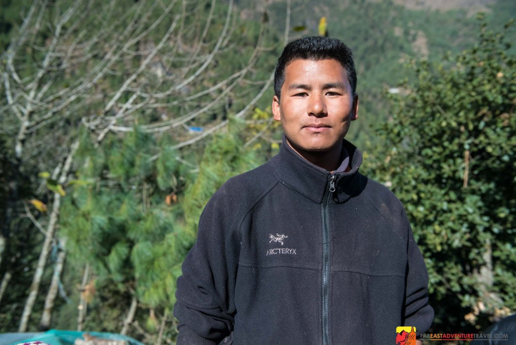 A Sherpa guide from the Khumbu Region of Nepal
