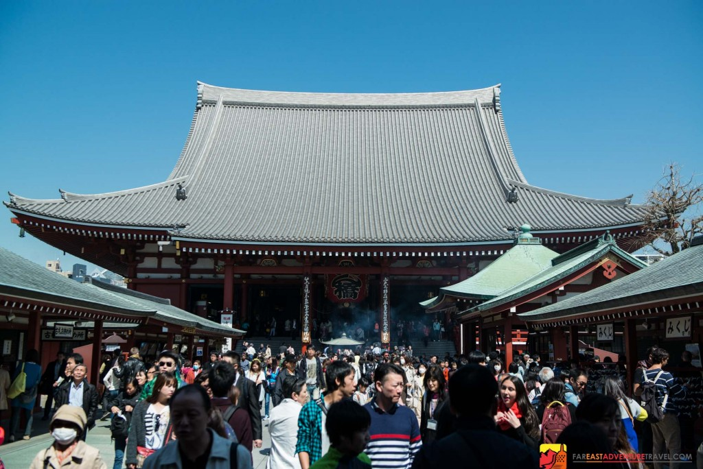 The Senso-ji Buddhist Temple is the most visited site in all of Tokyo-located in Asakusa District
