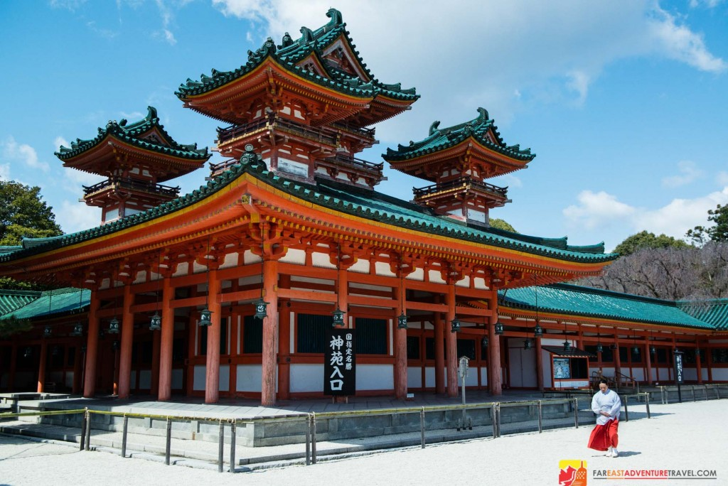 Heian Shrine-one of 400 Shinto Shrines located in Kyoto, the former capital of Japan
