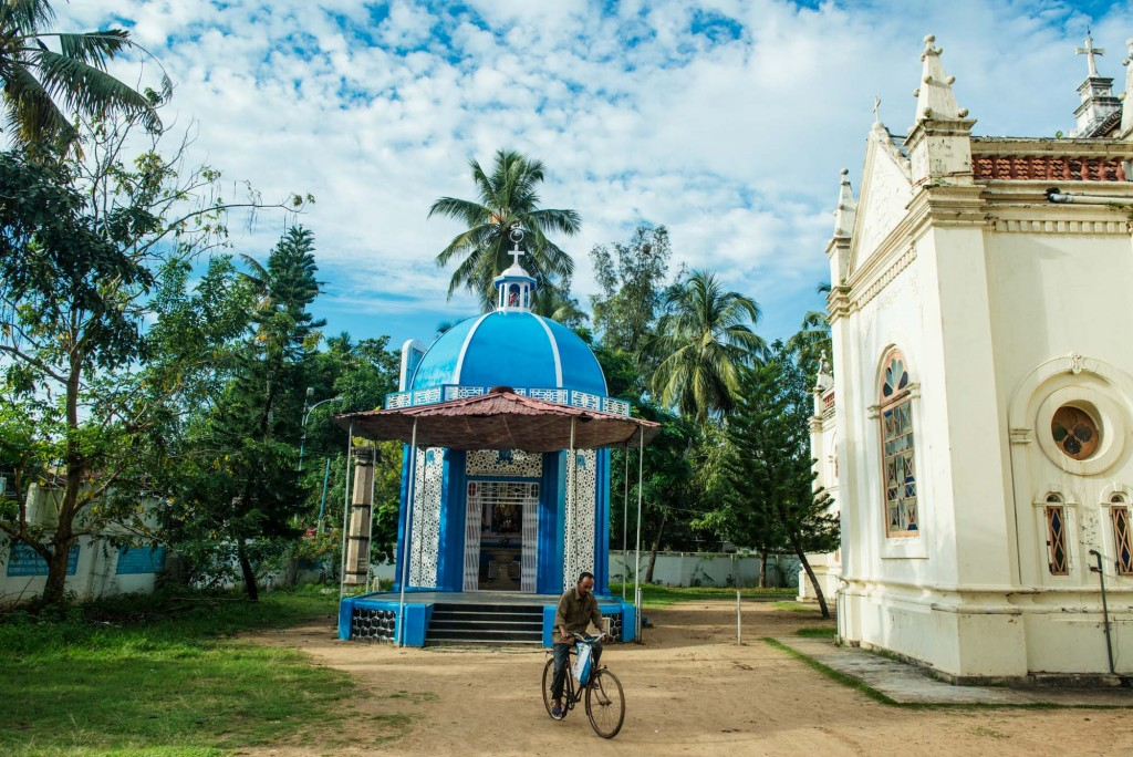 Santa Cruz Basilica in Fort Cochin-this area including the diverse population of Ernakulum district has the highest density of Christian followers in all of India