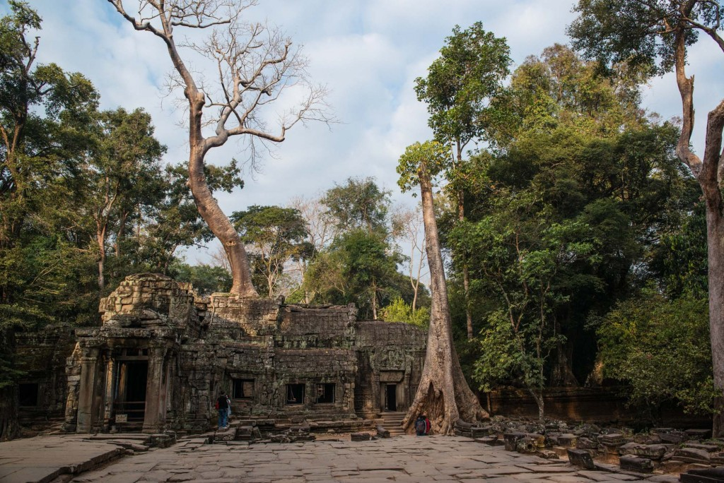 Ta Prohm, Angkor Thom is one of the most atmospheric sites in the Angkor ruins of Cambodia -made famous by the Lara Croft Tomb Raider movie released in 2001.