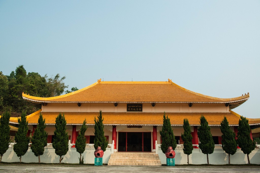The Martyr's Memorial Hall in Mae Salong, Thailand dedicated to resident KMT soldiers who died in battle fighting the civil war of China and communist insurgents in Northern Thailand